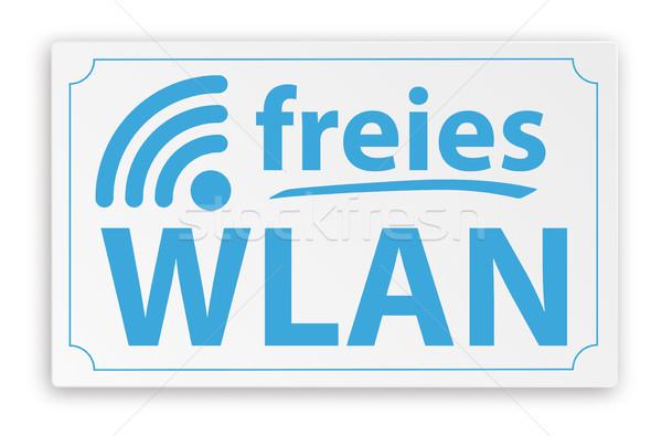 Paper Sign Free WiFi Stock photo © limbi007