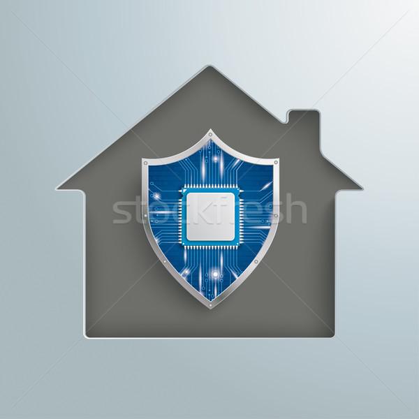 House Hole Digital Protection Shield Stock photo © limbi007