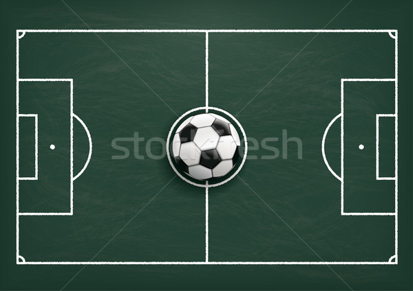 Football Tactics Ground Green Blackboard Stock photo © limbi007