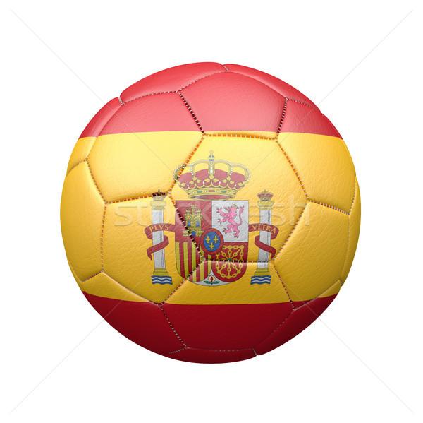 Futbol İspanya klasik deri beyaz Stok fotoğraf © limbi007