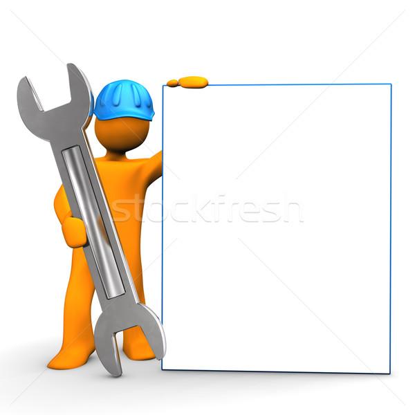 Industrial Worker Signboard Stock photo © limbi007