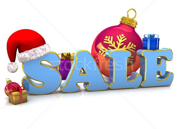 Natal venda texto presentes bugiganga Foto stock © limbi007