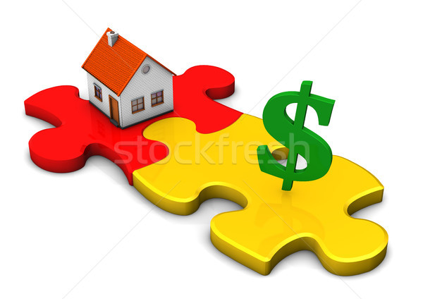 House Puzzle Dollar Stock photo © limbi007