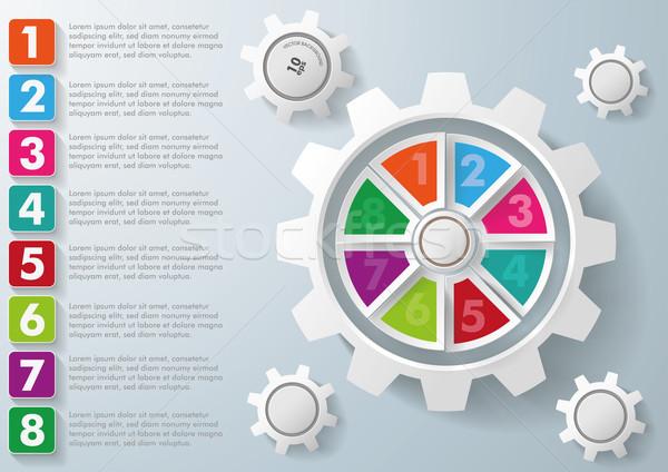 Bianco attrezzi colorato centro opzioni infografica Foto d'archivio © limbi007