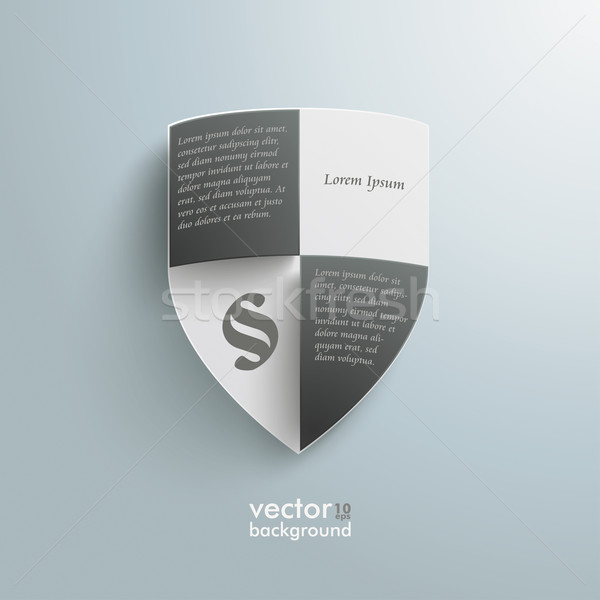 Protection Shield Infographic Design Stock photo © limbi007