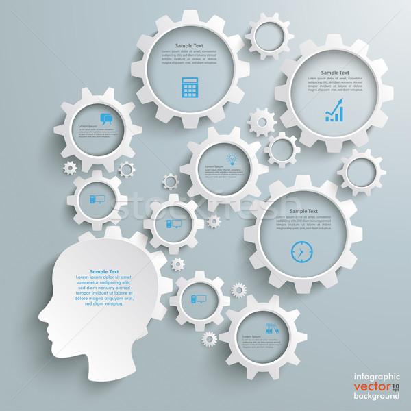 Employee Big Brain Activity Stock photo © limbi007