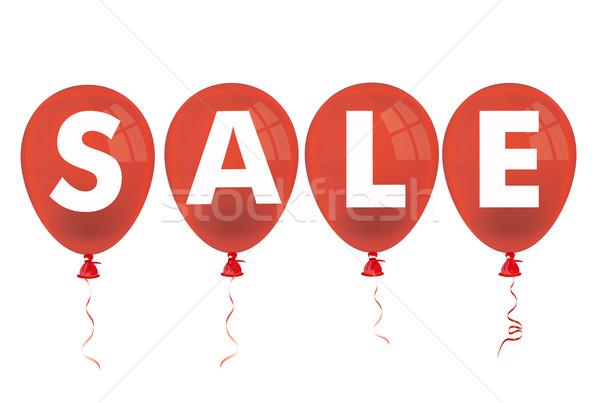 4 Red Balloons Sale Stock photo © limbi007