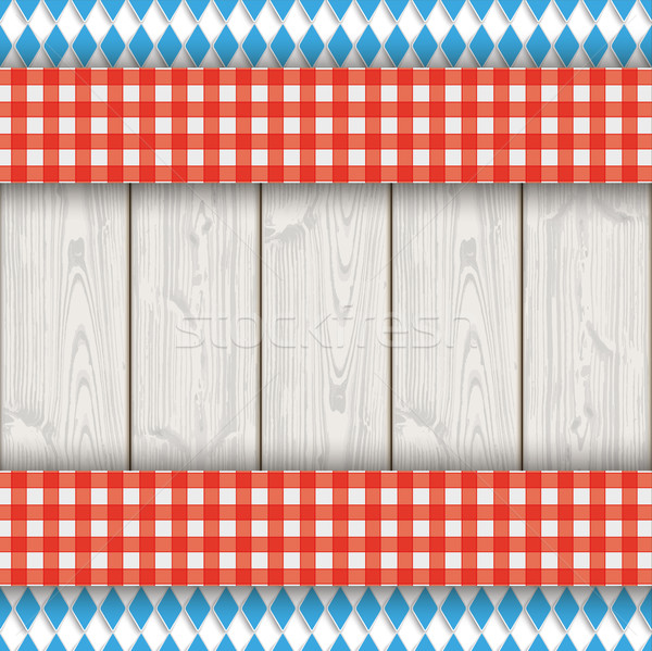 Bavarian National Colors Flyer Cloth Wood Stock photo © limbi007