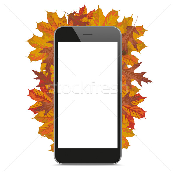 Black Smartphone Autumn Foliage Stock photo © limbi007