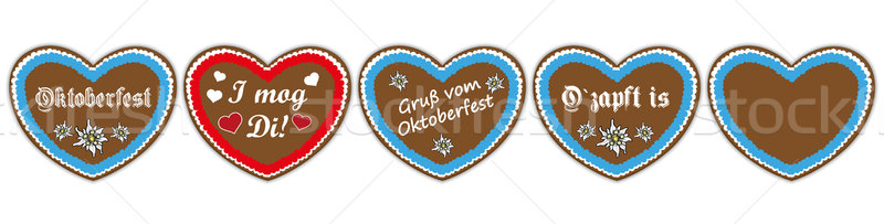 Oktoberfest Header Hearts Set Stock photo © limbi007