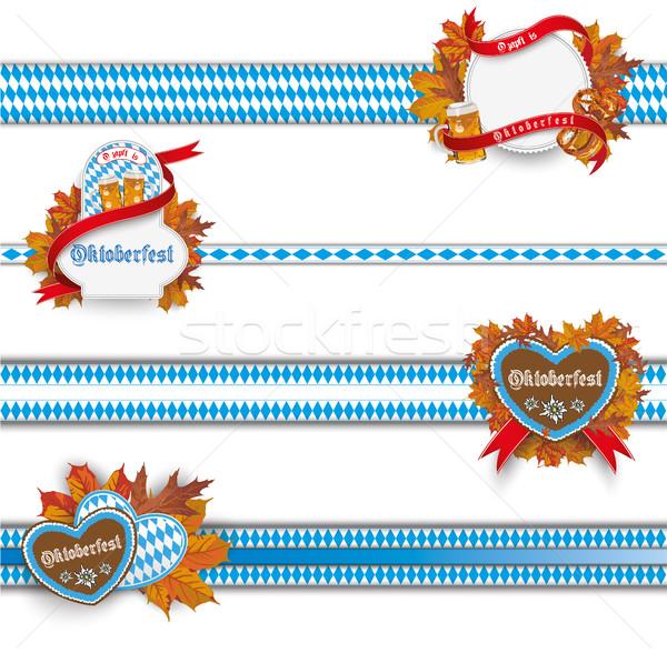 Oktoberfest Ribbons With Emblems Set Stock photo © limbi007