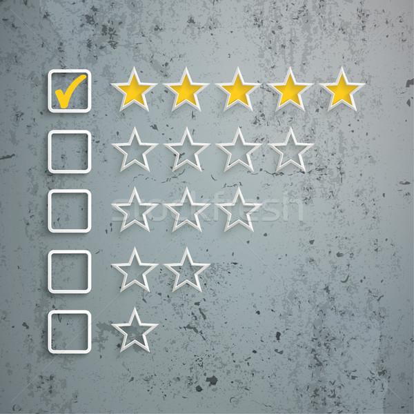 5 Stars Rating Concrete Stock photo © limbi007