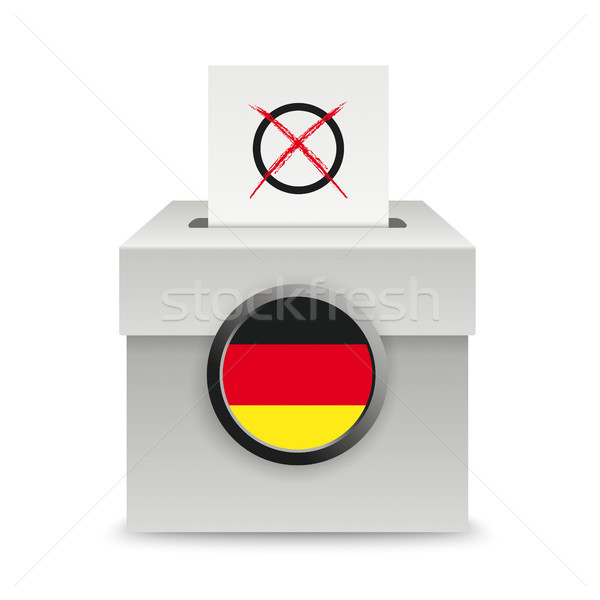 Voting Box Paper German Flag Stock photo © limbi007