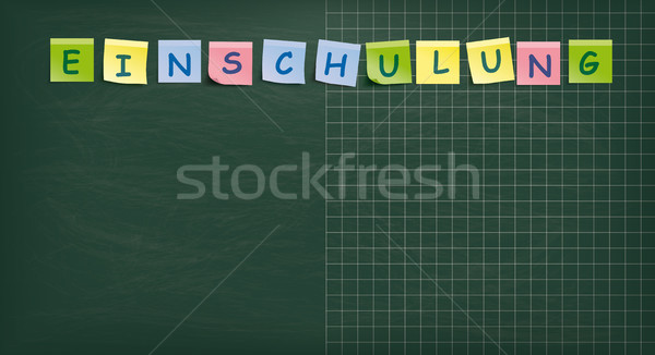 Blackboard Colored Sticks Einschulung Stock photo © limbi007