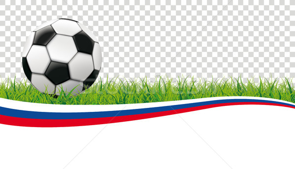 Football Grass Header Russia Transparent Stock photo © limbi007