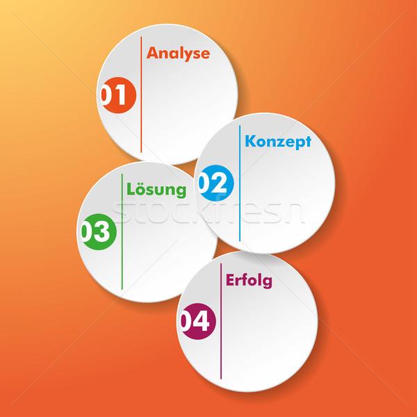 Analyse Konzept Loesung Erfolg Stickers Stock photo © limbi007