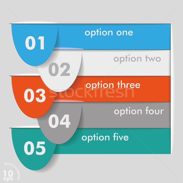 Five Options Templates Stock photo © limbi007