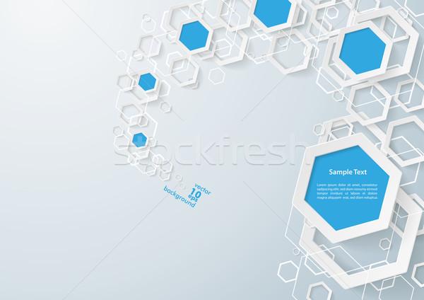 Biały niebieski pyłu szary eps 10 Zdjęcia stock © limbi007