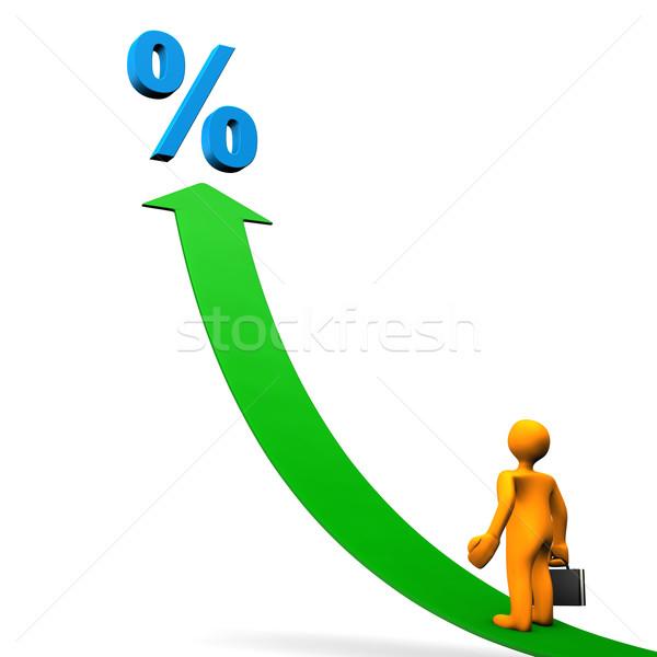 Manikin Arrow Percent Stock photo © limbi007
