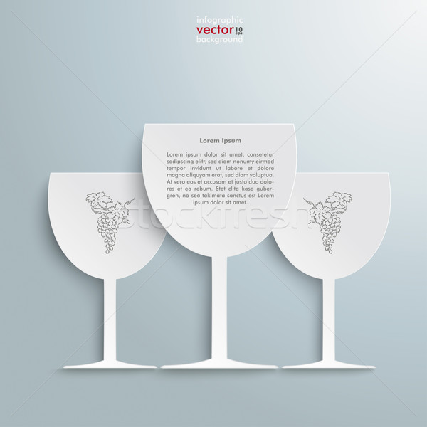 3 White Wineglasses Stock photo © limbi007