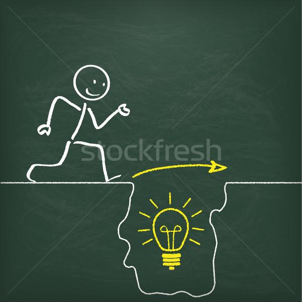Blackboard Stickman Idea Rift Stock photo © limbi007