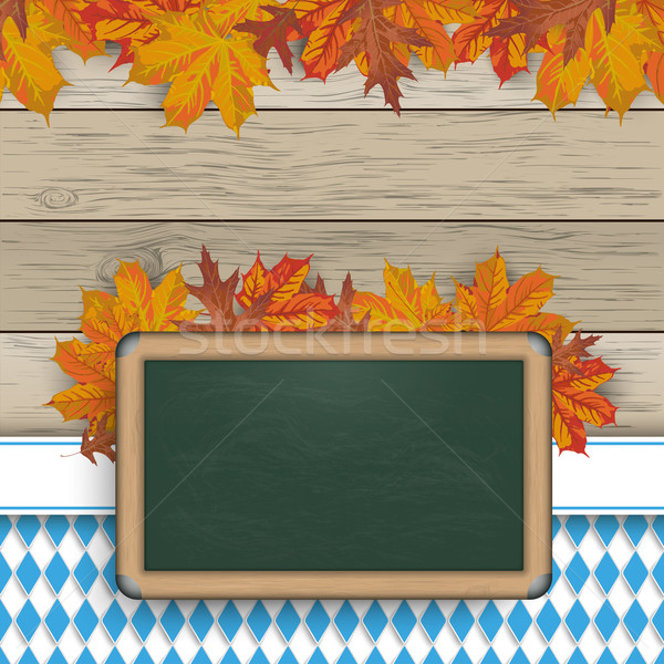 Bavarian Blackboard Foliage Wood Stock photo © limbi007