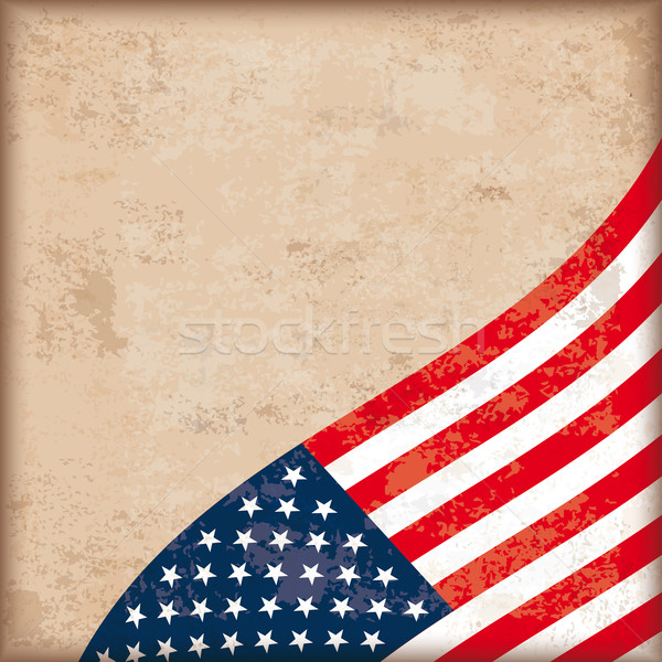 Vintage Background USA Flag Stock photo © limbi007