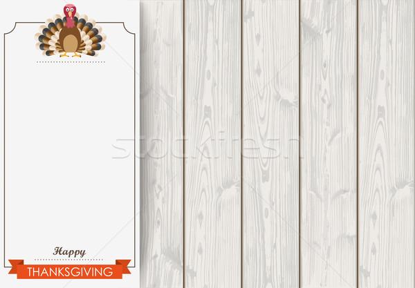Side Oblong Banner Thanksgiving Turkey Wood Stock photo © limbi007