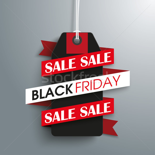 Black friday verkoop prijs sticker lint eps Stockfoto © limbi007