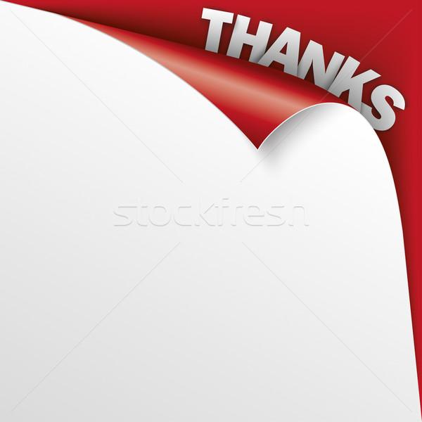 Remerciements coin rouge papier couvrir texte Photo stock © limbi007