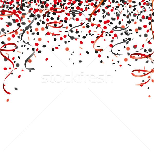 Red Black Confetti Garlands Cover Stock photo © limbi007