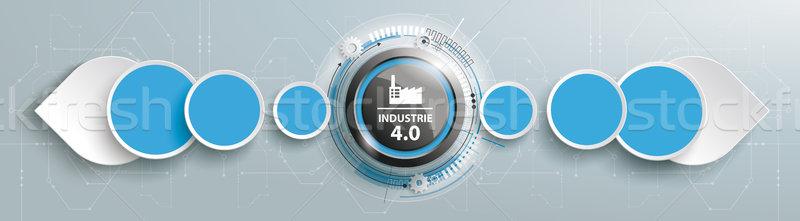 Industrie 4.0 Drops Directions Header PiAd Stock photo © limbi007