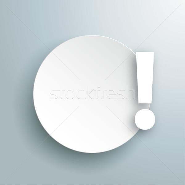 Paper Circle Exclamation Point Gray Stock photo © limbi007