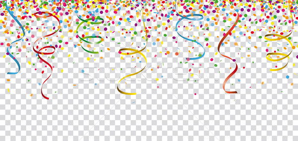 Carnival Confetti Ribbons Header Transparent Stock photo © limbi007