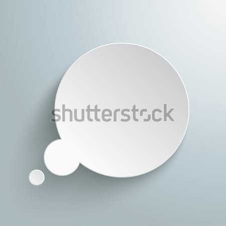Blanco papel burbuja de pensamiento gris eps 10 Foto stock © limbi007