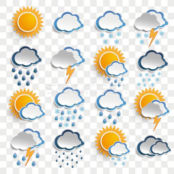 Weather Icons Transparent Stock photo © limbi007