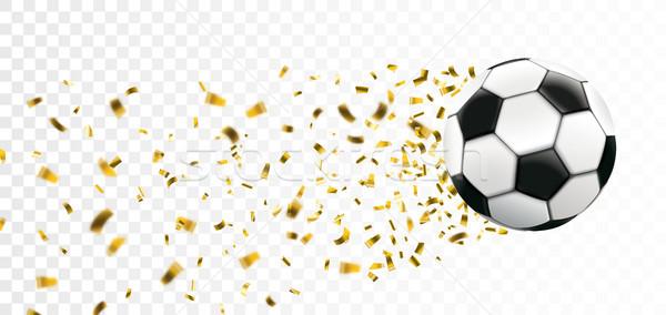 Football Golden Confetti Stardust Transparent Header Stock photo © limbi007