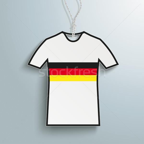 Preço adesivo tshirt preto e branco Alemanha branco Foto stock © limbi007
