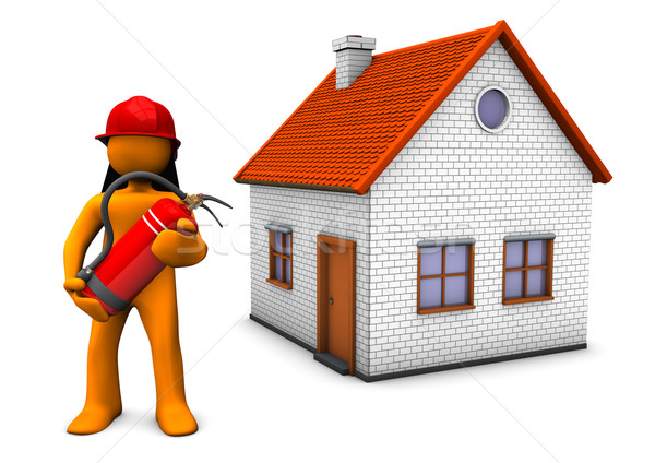 Fireman House Stock photo © limbi007