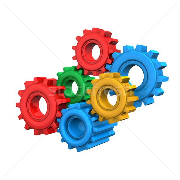 Colorful Gears Stock photo © limbi007