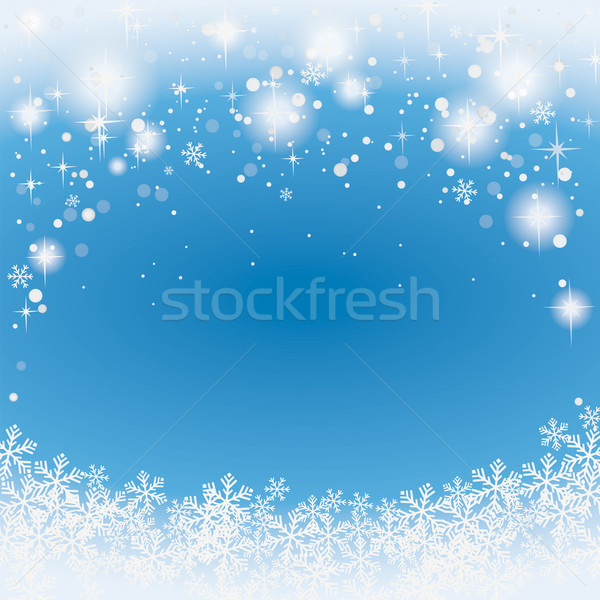 Snow Stars Background Stock photo © limbi007