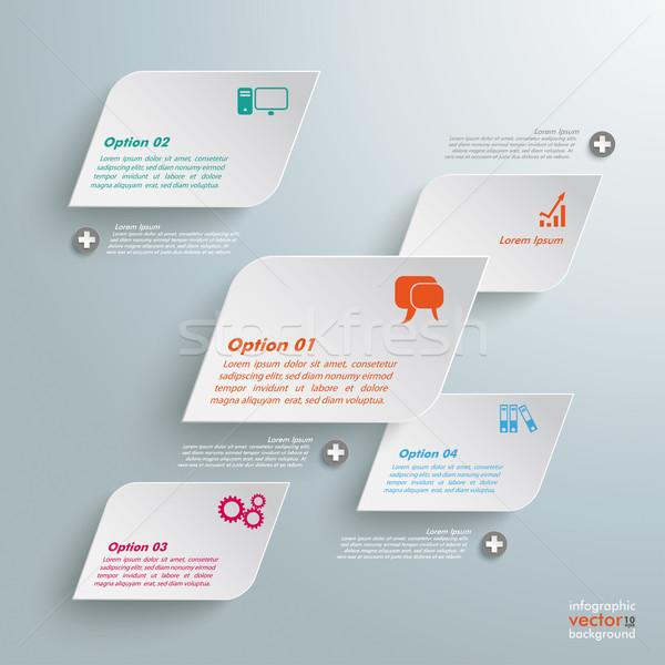 Infografika szürke eps 10 vektor akta Stock fotó © limbi007