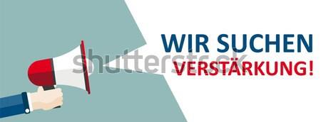 Megaphone Banner Verkaufsoffener Sonntag Stock photo © limbi007