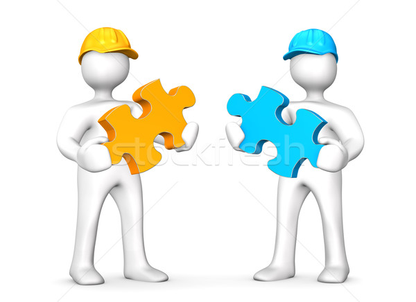 Two Worker Puzzles Stock photo © limbi007
