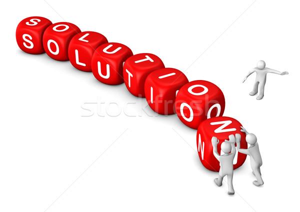 Rood oplossing witte cartoon Stockfoto © limbi007