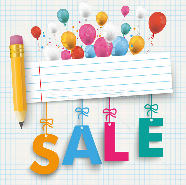 Pencil Banner Balloon Sale Stock photo © limbi007
