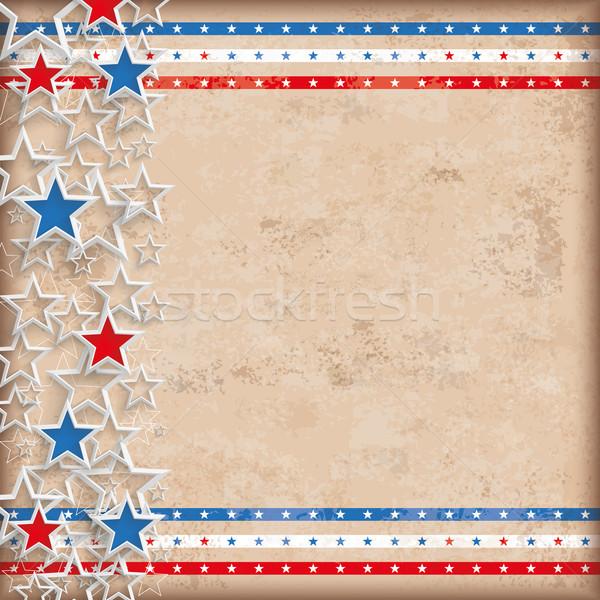 Vintage Background USA Double Stars Stock photo © limbi007