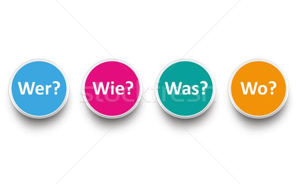 Contact Wer Wie Was Wo Stock photo © limbi007