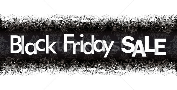 Black Friday Sale Header Double Snow Banner Ornaments Stock photo © limbi007