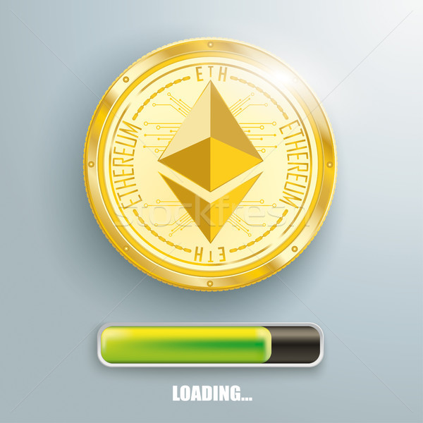 Golden Ethereum Loading Stock photo © limbi007